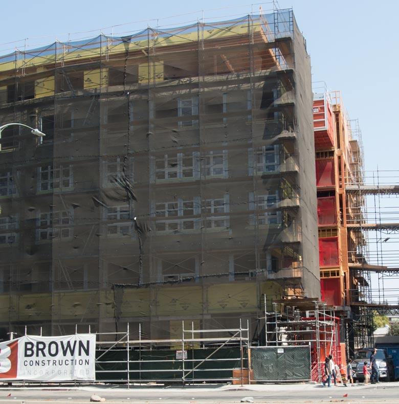 Lyrc condo building in downtown Walnut Creek is 75 feet in height