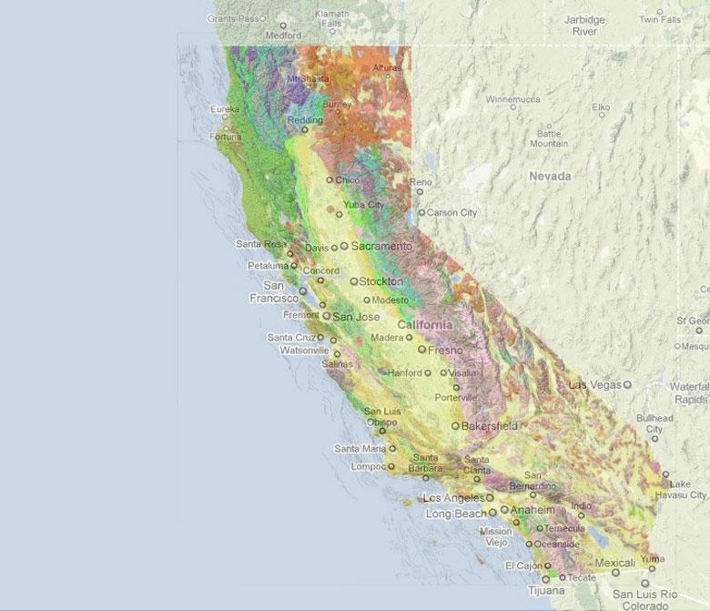 Saranap Homeowners Organization Earthquake Fault Maps - California geologic map